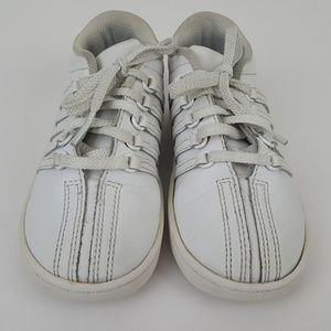 New K-Swiss Classic 23343-912 White Leather Infant Toddler Shoes
